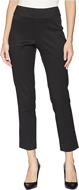 Pull-On Pique Ankle Pants