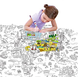 JarMelo JA90107 Giant Coloring Poster Pads The World Craft