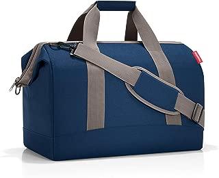 reisenthel Allrounder M Medium Weekender Bag, Versatile 6-Pocket Padded Duffel, Dark Blue
