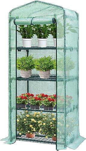 popular VIVOSUN 4-Tier online sale Reusable Mini Green House 26.77 x 19.1 x 63-Inch Portable Warm House for Small wholesale Backyards online