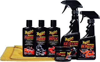 Meguiar's Motorcycle Care Kit – Package for Motorcycle Cleaning and Detailing – G55033