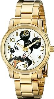Disney Unisex W001844 Mickey Mouse Analog Display Analog Quartz Gold Watch