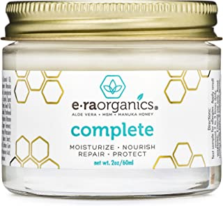 Natural & Organic Face Moisturizer Cream - Extra Nourishing & Hydrating 10-In-1 Daily Facial Cream with Aloe Vera, Manuka Honey, Coconut Oil, Cocoa Butter For Oily, Dry, Sensitive Skin 2.0oz/56.6g