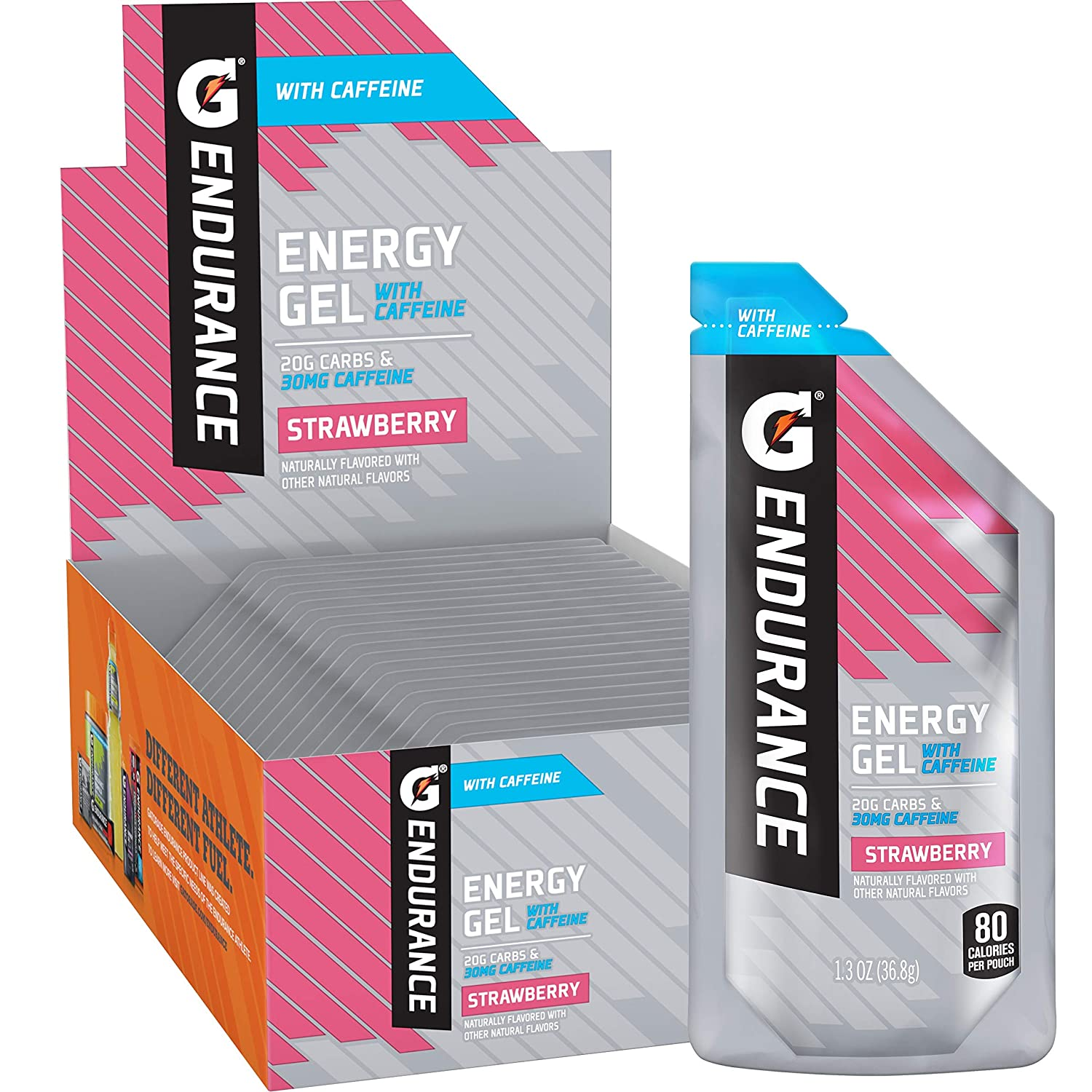Gatorade Endurance EnergyGelwith Special Don't miss the campaign Campaign Caffeine 1.3oz Strawberry P