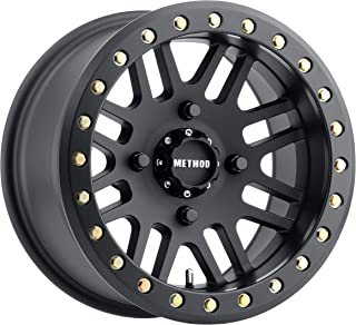 Method Race Wheels 406 Matte Black Wheel with USA Grade 8 Beadlock Bolts (14x7