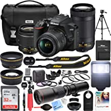 $579 » Nikon D3500 DSLR Camera with 2 Lens NIKKOR AF-P DX 18-55mm f/3.5-5.6G VR and 70-300mm f/4.5-6.3G ED Dual Zoom Lens Bundle with 500mm Preset f/8 Telephoto Lens and Accessories (22 Items)