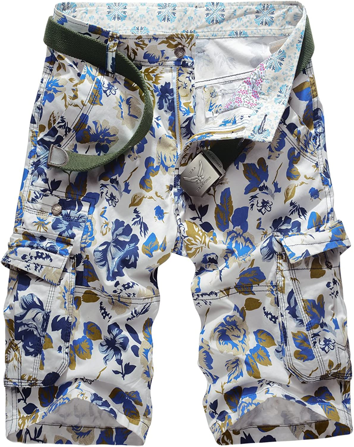 Colorfulworldstore Summer Mens Camouflage Casual Trust Shorts 35% OFF Pants