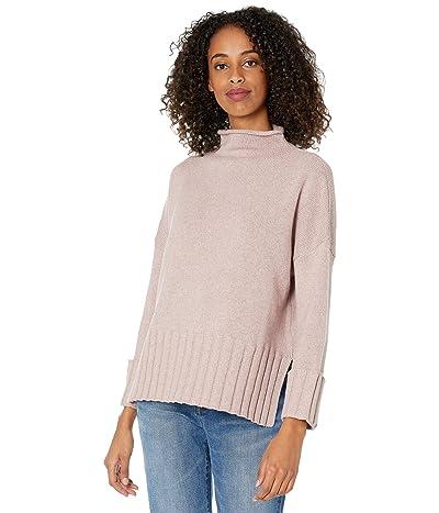 Madewell Glenmoor Mockneck Sweater in Cotton-Merino Yarn (Heather Amethyst) Women