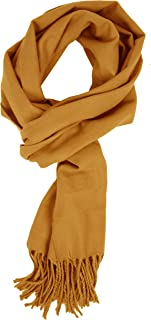 Unisex Warm Soft Cashmere Feel Solid Color Fall Winter Scarf