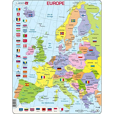 Europa Meridionale Cartina.Larsen K2 Mappa Politica Dell Europa Edizione Francese Puzzle Incorniciato Con 48 Pezzi Amazon It Giochi E Giocattoli