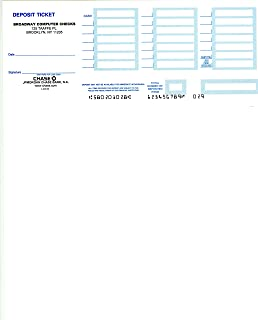 Laser Deposit Slips Compatible with QuickBooks 1 or 2 Parts (100, 1 Part - White Only)