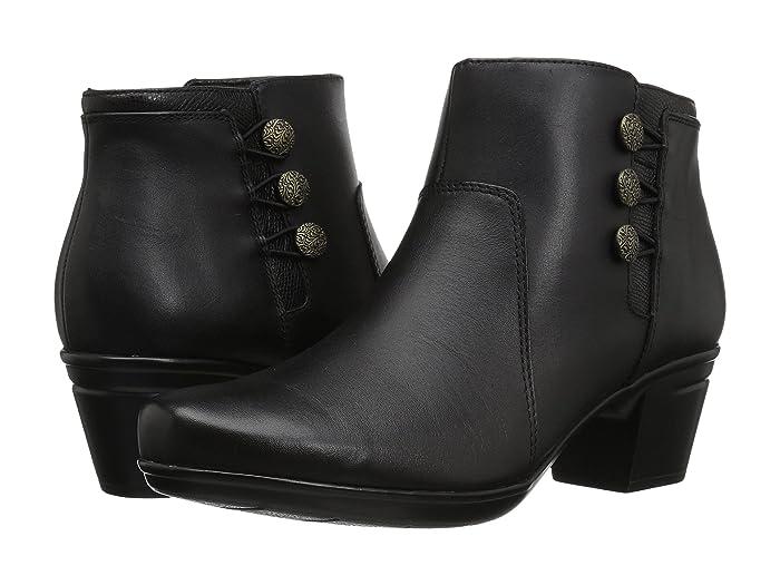 Clarks  Emslie Monet (Black Leather) Womens  Boots