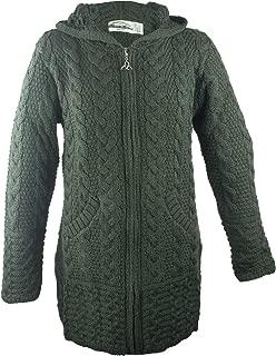 hooded merino aran jacket