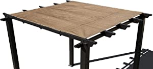 Alion Home Pergola Shade Cover Sunblock Patio Canopy HDPE Permeable Cloth with Grommets (8' x 10', Walnut)