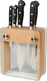 Mercer Culinary Bloc à couteaux en acier inoxydable forgé dans un bloc en verre trempé Multicolore