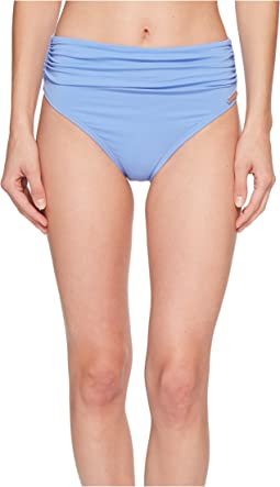 Riviera Solids Convertible High-Waist Bikini Bottom