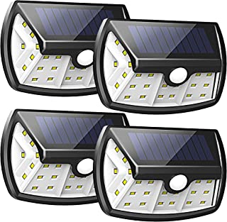 InnoGear Upgraded Solar Lights Outdoor, Motion Sensor Light with Wide Lighting Area Waterproof Wireless Security Lights Wall Sconce Lamp for Front Door, Back Yard, Driveway, Garage, Pack of 4