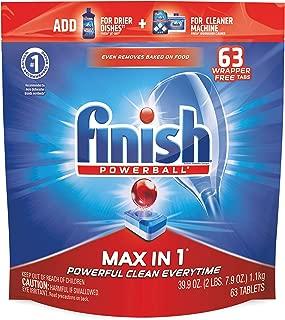 Finish - Max in 1-63ct - Dishwasher Detergent - Powerball - Dishwashing Tablets - Dish Tabs