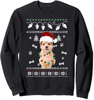 Norfolk Terrier Christmas Dog Light Ugly Sweater T-Shirt
