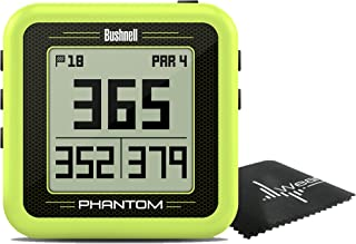 $129 » Bushnell Phantom Compact Handheld Golf GPS with Built-in Golf Cart Magnet and Wearable4U Cleaning Towel Bundle (Green)