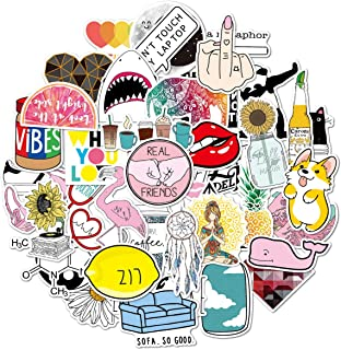Stickers for Water Bottles, | Big 46-Pack | Cute,Waterproof,Aesthetic,Trendy Stickers for Teens,Girls,Perfect for Laptop,Hydro Flask,Phone,car,Skateboard,Travel| Extra Durable 100% Vinyl (46 Cute)