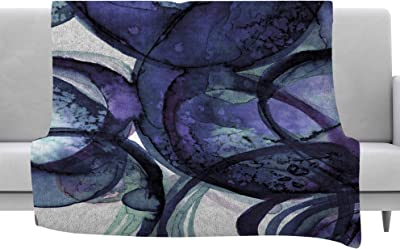 Kess InHouse Cyndi Steen Painted Water Lily Pink Floral Throw 60 x 40 Fleece Blankets