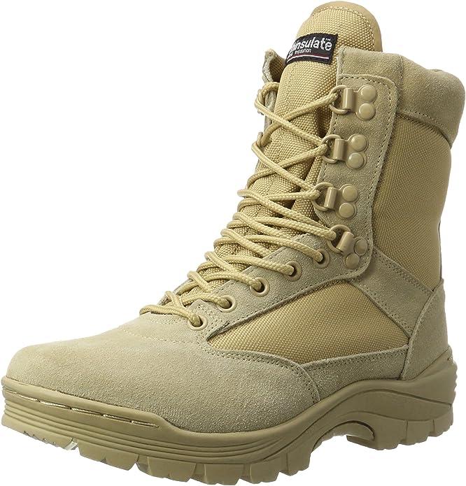 normani Tactical Boot with YKK Zip Khaki Size 41