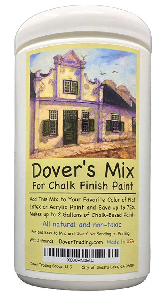 Chalk Finish Paint Mix by Dover's – Add to Any Color of Flat Latex or Acrylic Paint to Make 2 Gallons of Inexpensive Chalk Furniture Paint - Save 75% Over All Natural, Non-Toxic