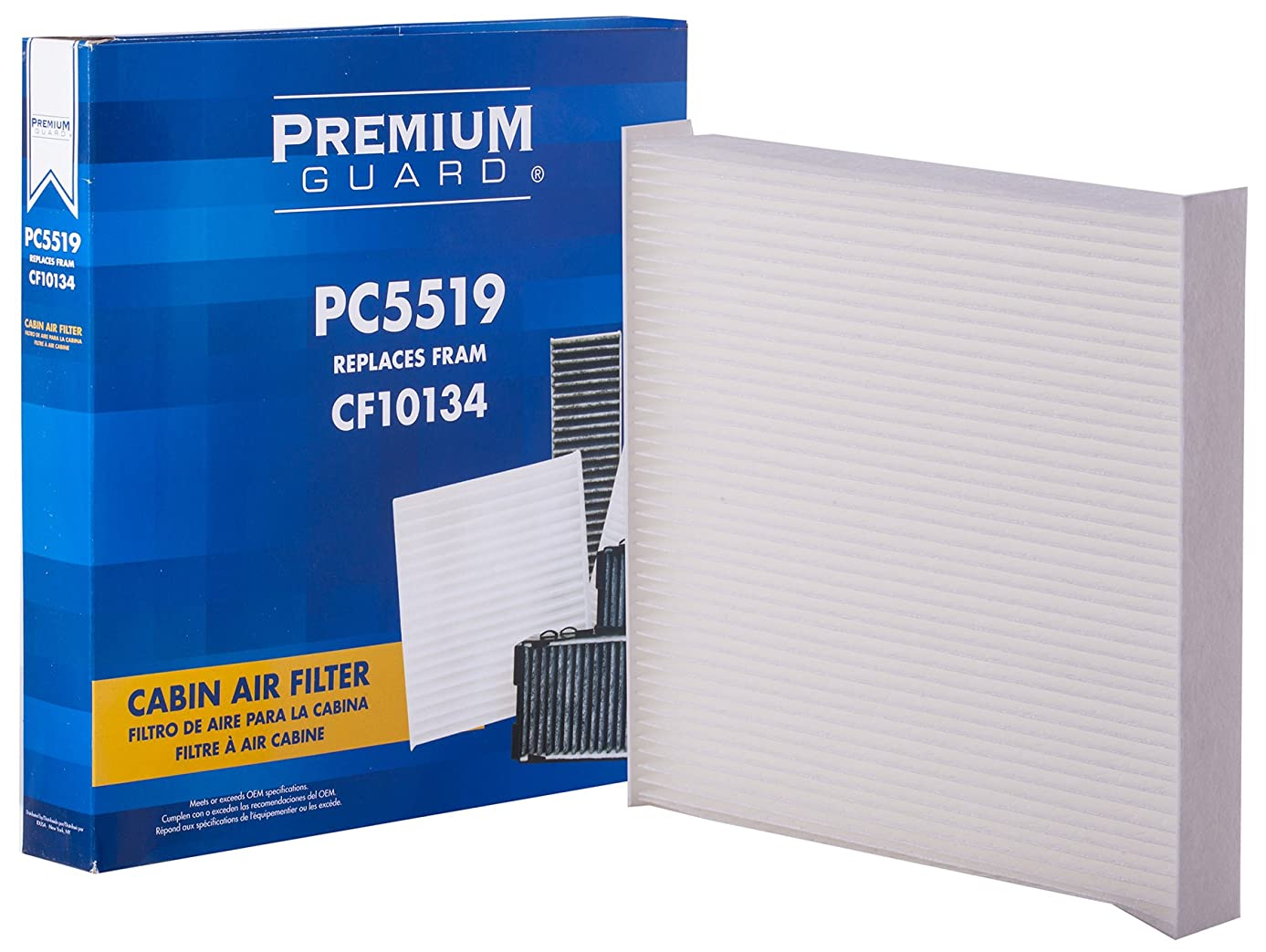 PG PC5519 Cabin Air Filter| Fits 2007-11 Acura CSX, 2013-18 ILX, 2007-18 MDX, 2007-18 RDX, 2005-12 RL, 2014-19 RLX, 2004-14 TL, 2015-19 TLX, 2004-14 TSX, 2010-13 ZDX, 2003-18 Honda Accord
