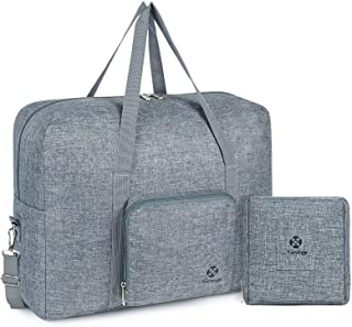 For Spirit Airlines Foldable Travel Duffel Bag Tote Carry on Luggage Sport Gym Duffle for Men and Women (Gray)