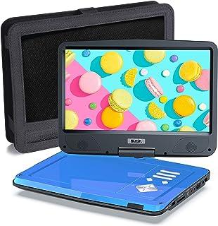 SUNPIN Draagbare dvd-speler voor auto en kinderen met houder, 10,5 inch HD-scherm, 5 uur oplaadbare batterij, afstandsbedi...