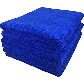 SOFTSPUN Microfiber Cloth - 3 pcs - 40x60 cms - 340 GSM Blue - Thick Lint & Streak-Free Multipurpose Cloths - Automotive Microfibre Towels for Car Bike Cleaning Polishing Washing & Detailing