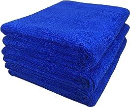 SOFTSPUN Microfiber Cloth - 3 pcs - 40x60 cms - 340 GSM Blue - Thick Lint & Streak-Free Multipurpose Cloths - Automotive Microfibre Towels for Car Bike Cleaning Polishing Washing & Detailing