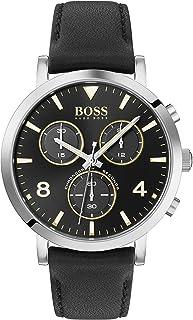 Hugo Boss Mens Quartz Watch, Chronograph Display and Leather Strap 1513766