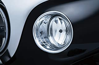Kuryakyn 5622 Motorcycle Lighting Accent Accessory: Driving Light Bezels for 2014-19 Indian Motorcycles, Chrome, 1 Pair