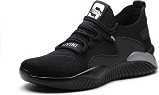 Safety Boots Non-Slip Breathable Safety Work Utility Shoes with Steel Toe Cap Low top Anti-Smash Puncture-Proof Midsole Pr...