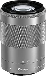 Canon 望遠ズームレンズ EF-M55-200mm F4.5-6.3 IS STM(シルバー) ミラーレス専用 EF-M55-200ISSTMSL