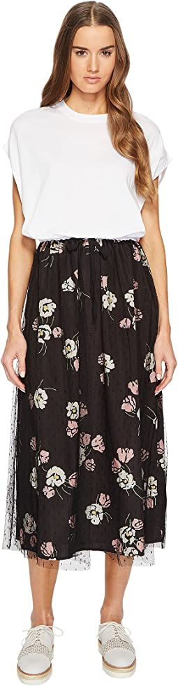 RED VALENTINO - Maxi T-Shirt Dress with Printed Skirt