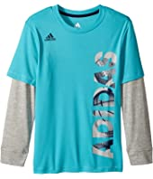 adidas Kids - Linear Adidas Tee (Toddler/Little Kids)