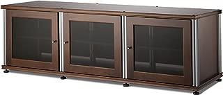 Salamander Synergy 237 A/V Cabinet w/ Three Doors (Walnut/Silver)