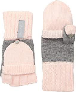 Color Block Flip Top Gloves