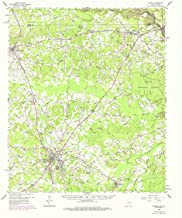 YellowMaps Center TX topo map, 1:62500 Scale, 15 X 15 Minute, Historical, 1958, Updated 1975, 21 x 18.1 in