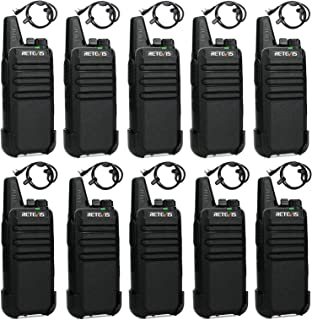 Retevis RT622 Walkie Talkie, Mini PMR446 Licencia Libre, 16 Canales CTCSS/DCS, Monitor VOX Escanear, Recargable Radio Bidi...
