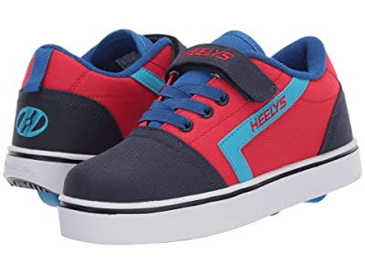 Heelys GR8 Pro X2 (Little Kid/Big Kid) (Red/Navy/Royal) Boys Shoes