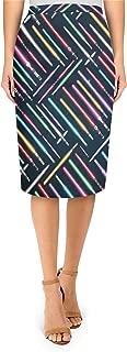 Lightsabers Star Wars Inspired Midi Pencil Skirt