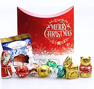 The Lindt Christmas Chocolate Treat Box - Lindt Truffles, Gold Bear, Santa, Melting Moment and Reindeer - Stocking Filler, Gift - New 2015 - By Moreton Gifts