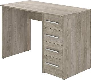 Marque Amazon -Movian - Bureau 4tiroirs Idro Modern, 56 x 110 x 73, Effet Chêne