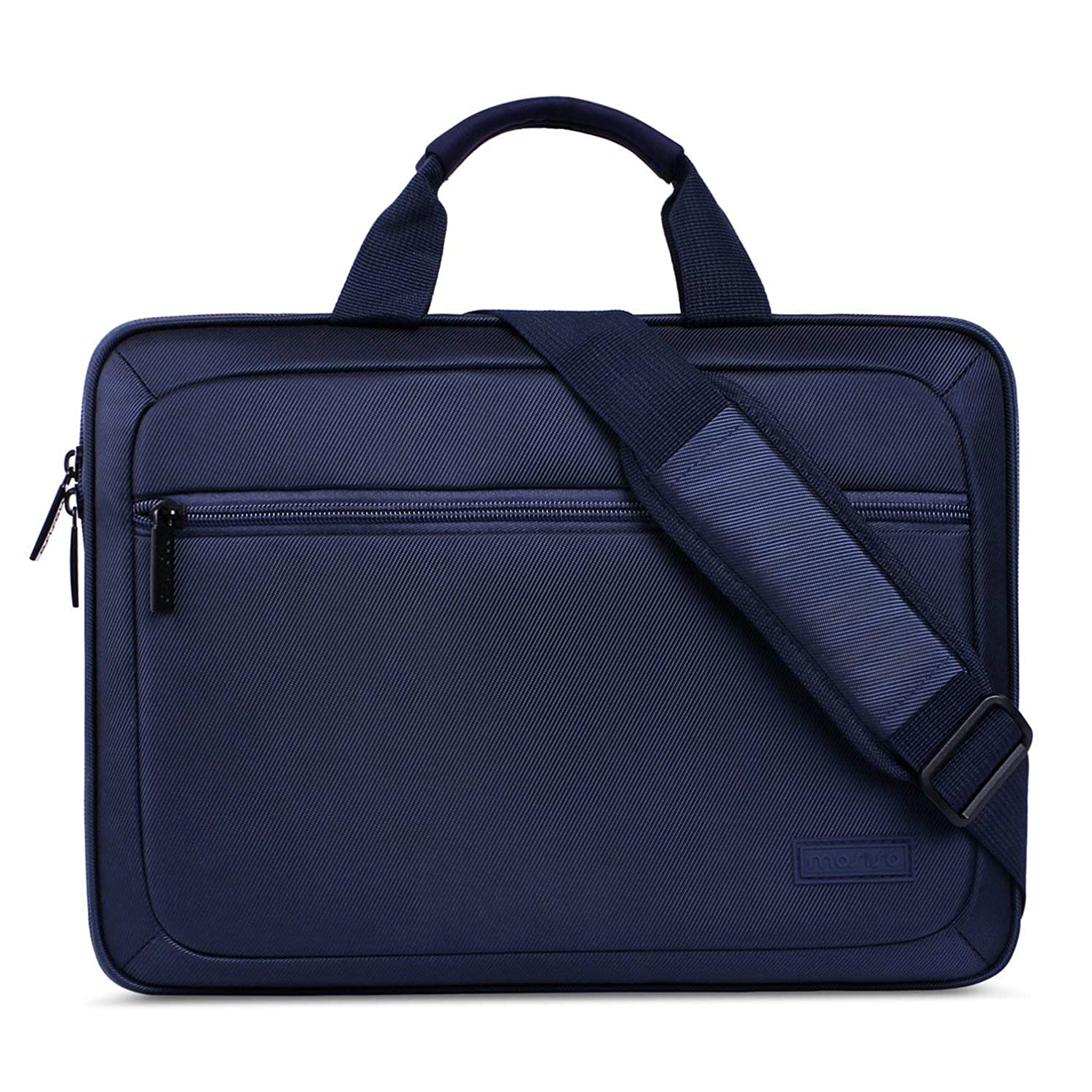 MOSISO EVA Shockproof Laptop Shoulder Bag Compatible MacBook Air 13, MacBook Pro Retina 13 Inch 2012-2015, Microsoft Surface Laptop, with Handle & Accessory Bag & Back Belt for Trolly Case, Navy Blue