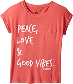 Peace & Love Roll Sleeve T-Shirt (Little Kids/Big Kids)
