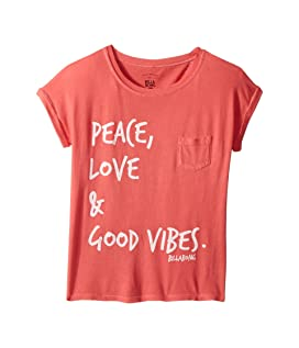 Peace & Love Roll Sleeve T-Shirt (Little Kids/Big Kids)